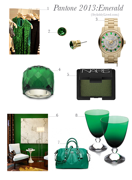 Emerald inspiration board