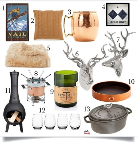 Winter Entertaining inspiration board