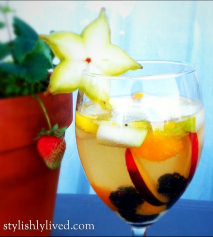 From StylishlyLived.com - White Sangria