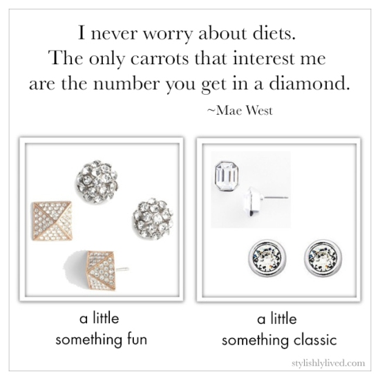 diamond studs from stylishlylived.com
