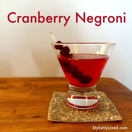 Cranberry Negroni | Stylishly Lived