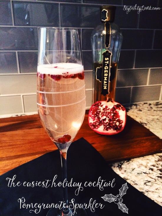 Easy Holiday Cocktail - Pomegranate Sparkler