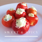 Sweet and Spicy goat cheese stuffed cherrypeppers