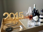 Last minute New Year's Eve DIY – Gold Leaf Bar Carsign