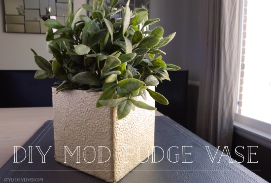 DIY Mod Podge and Paper covered vase from StylishlyLived