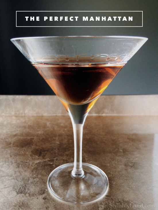 The Perfect Manhattan... the right drink to sip while saying goodbye to Don Draper...