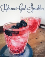 Easy cocktail for a crowd: Hibiscus Gin Sparkler